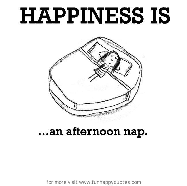Happiness is, an afternoon nap.