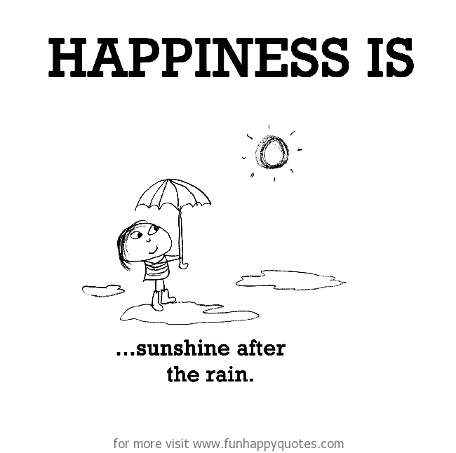 Happiness Is Sunshine After The Rain Funny Happy