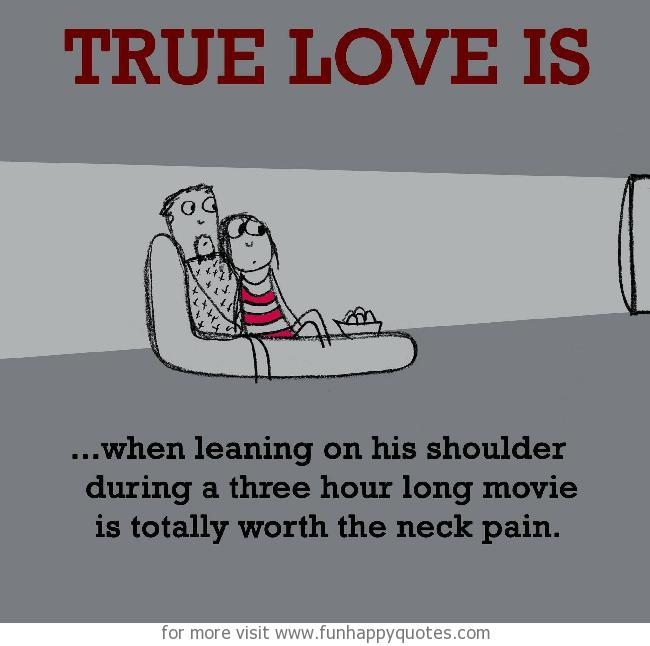 True Love is, watching movie together.