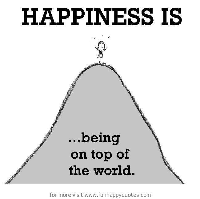 Happiness Is Being On Top Of The World Funny Happy