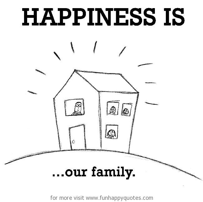 Happiness is, our family.