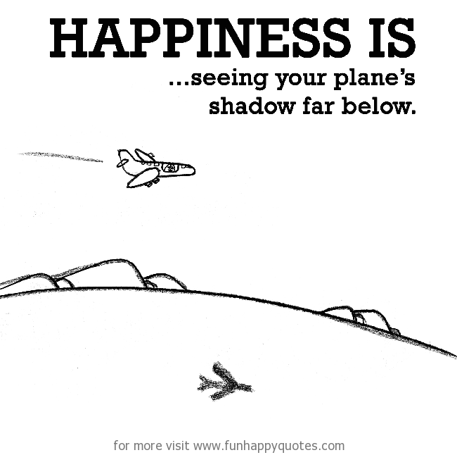 Happiness is, seeing your plane's shadow far below.