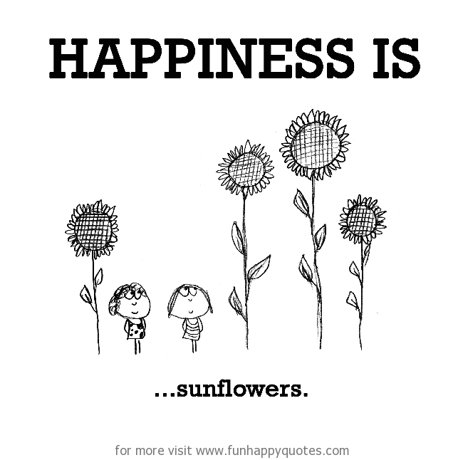 Happiness is, sunflowers.