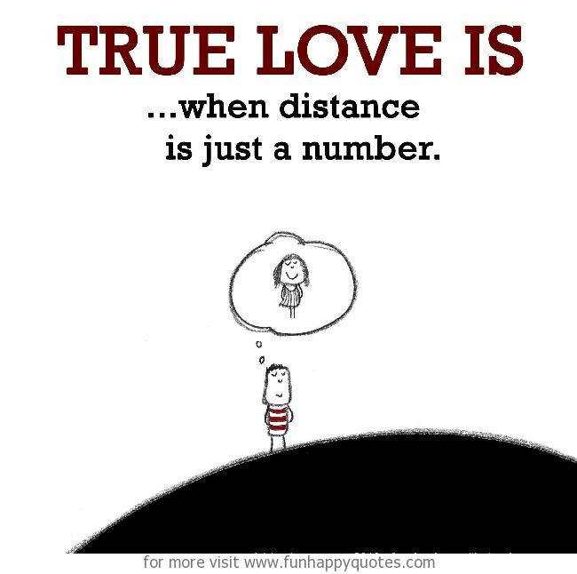 True Love is, when distance is just a number.