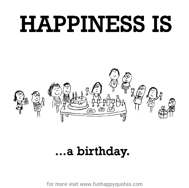 Happiness is, a birthday.