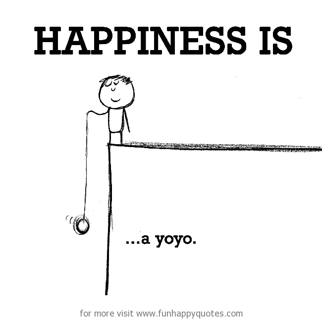 Happiness is, a yoyo.