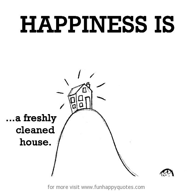 Happiness is, a freshly cleaned house.