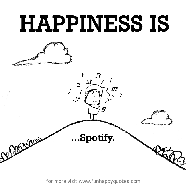 Happiness is, Spotify.