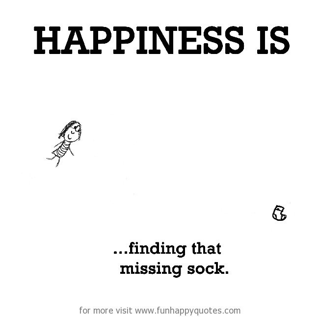 happiness is finding that missing sock funny happy
