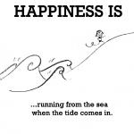 Happiness is, fun at sea beach.