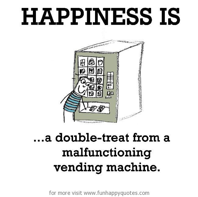 Happiness is, a double treat.